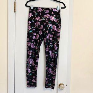 Emily Hsu High Rise Foil Floral Leggings Size L